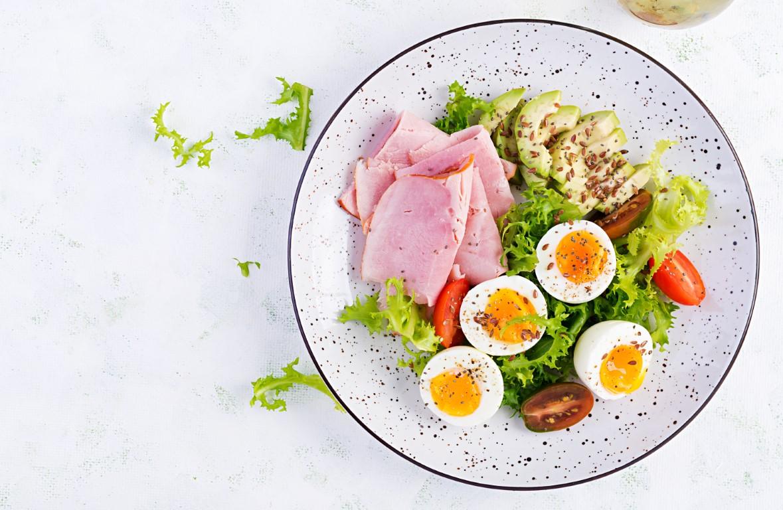œufs et jambon